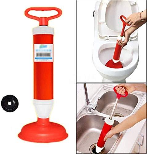 QMZDXH Luftstößel Abflußreiniger Toiletten, Hochdruck Abflusspumpe Toilettenstößel, Mit 2 Art Saugnäpfen, für Toilette, Badewanne, Dusche, Wanne Abflußreiniger
