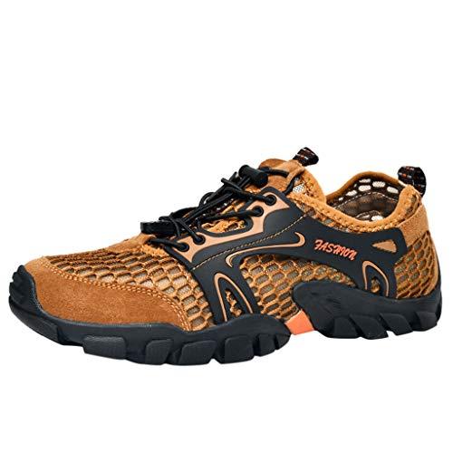 REALIKE Herren Trekking Wanderhalbschuhe Sportschuhe Rutschfeste Mesh Atmungsaktiv Running Schuhe Gym Turnschuhe Freizeitschuhe Leichtgewichts Schnürschuhear Outdoor Shoes Hiking Schuhe