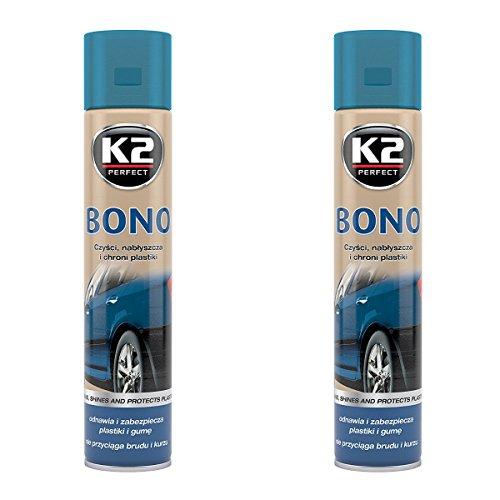 K2 de voiture Bumper Bono et restaurateur de Care, pare-chocs en caoutchouc et plastique Spray 300 ml