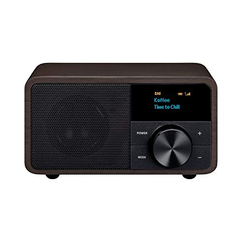 Sangean DDR-7 Genuine DAB+ Radio - FM/UKW Radio - Bluetooth Streaming - OLED Display - Micro USB Anschluss - akustisch gestimmtes Holzgehäuse - Noire