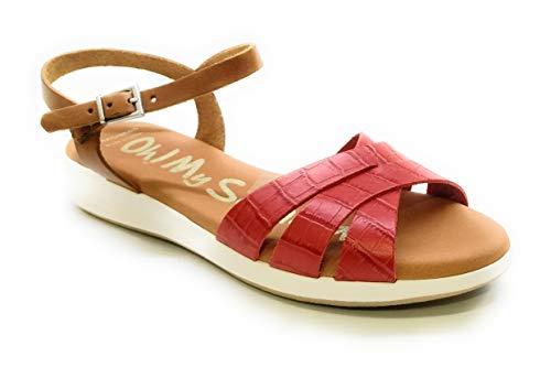 Oh! my Sandals 4660 Piel Coco Rojo