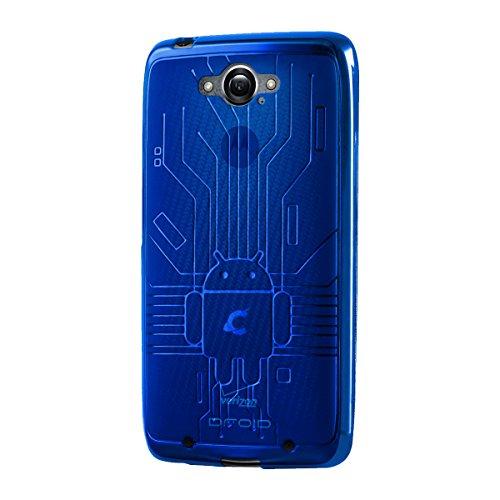 Droid Turbo Case, Cruzerlite Bugdroid Circuit TPU Case Compatible with Compatible with Motorola Moto Droid Turbo XT1254 (Verizon) - Blue