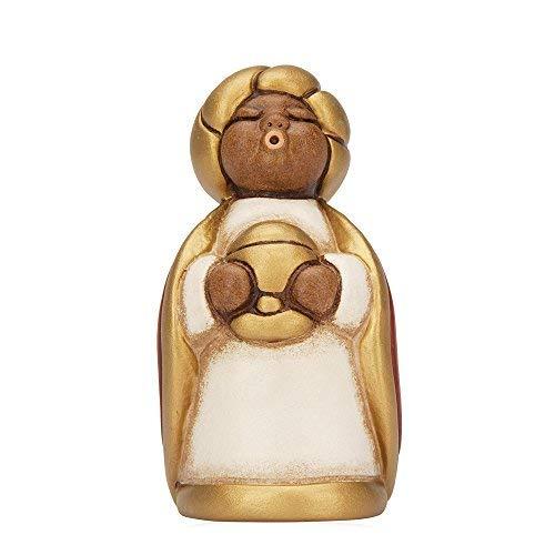 THUN® - Re Magio Melchiorre con Oro - Versione Rossa - Statuine Presepe Classico - Ceramica - I Classici