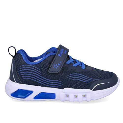 Bubble Kids A3117-S Zapatillas Deportivas con Luces - Sintético para: NIÑO Color: Azul Talla: 28