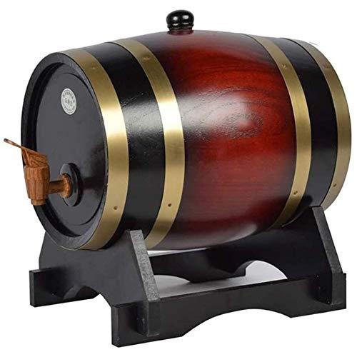JTYX Decantador de Whisky Decantador de Vino Dispensador de Barril de Whisky Barriles de envejecimiento de Roble Decantador de Barril de Whisky casero para Vino, licores, Cerveza y Licor