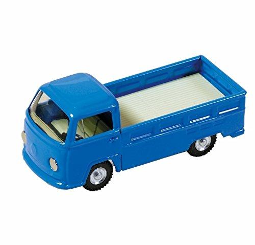 VW Bulli Pritschenwagen blau Blech Kovap 1:43 Blechauto Blechspielzeug 623780