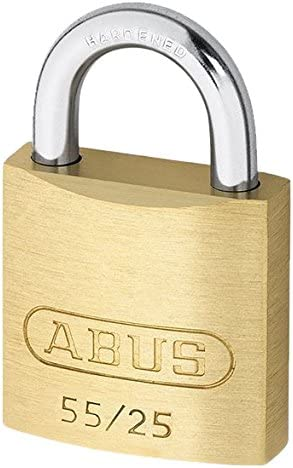 ABUS 55 25 Solid Brass Padlock We OFFer at cheap prices Keyed Challenge the lowest price Hardened - Steel Different