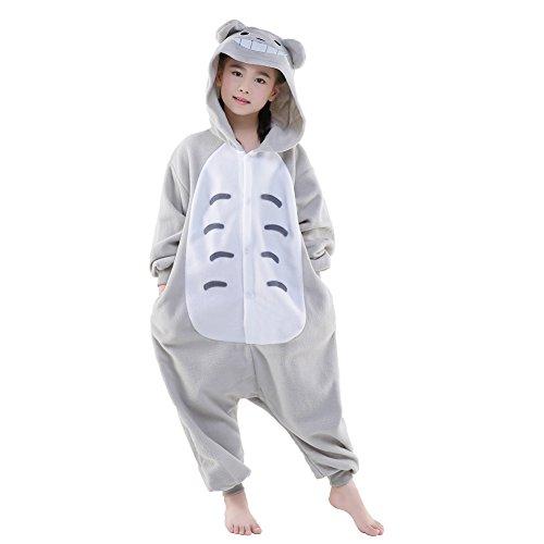 NEWCOSPLAY Halloween Unisex Child Totoro One-Piece Pajamas Costume (115, Totoro)