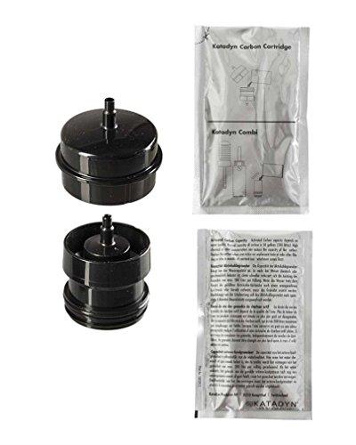 Katadyn Flaschenadapter für Aktivkohle plus Nachfüllpack Aktivkohlegranulat