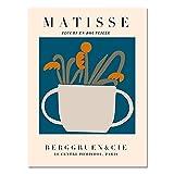 Patrón de decoración de arte de pared Matisse floral abstracto minimalista, carteles e impresiones nórdicos, pintura de lienzo sin marco A6 50x70cm