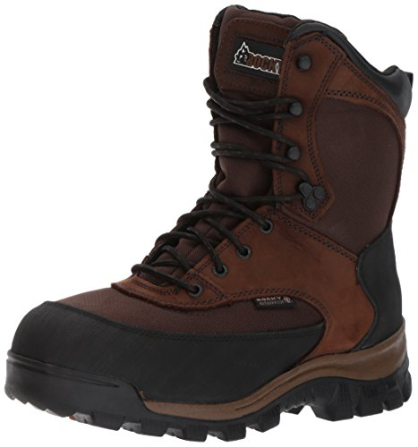 Rocky Men's FQ0004753 Mid Calf Boot, Dark Brown, 12 W US