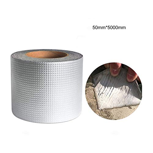 WOSOSYEYO Fuerte Calidad Papel de Aluminio Cinta de Goma butílica Tubo Piso de Vidrio Ventana de Techo Pared Sellador Adhesivo Impermeable 1.5mm de Espesor