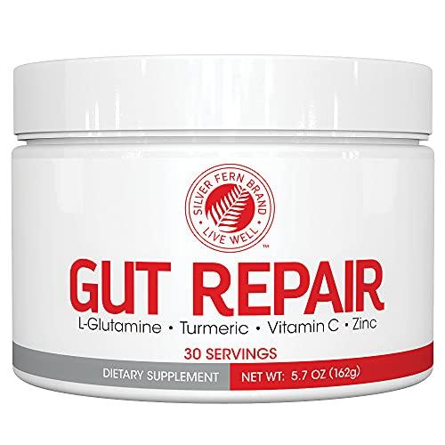 Gut Repair - Digestive Health Supplement Powder - L-Glutamine, Curcumin, Zinc & Ascorbic Acid (1 Tub - 30 Servings)