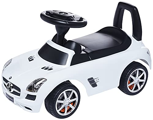 Best Ride on Cars Mercedes Benz SLS AMG Push Car, Silver, One Size