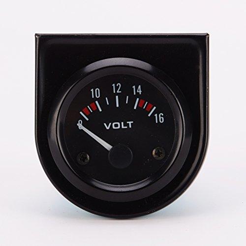 WINOMO Tension de LED compteur manomètre voltmètre pour Auto voiture professionnel 8 ~ 16V DC 12V 52mm