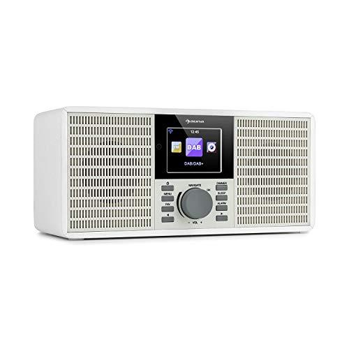 """auna IR-260 - Internetradio, Stereo-Sound, DAB+ & UKW Radio, Mediaplayer: Spotify Connect/BT/USB/UPnP/DLNA, 2,8\"""" HCC Display, unterstützte Dateiformate: WMA / MP3, weiß"""