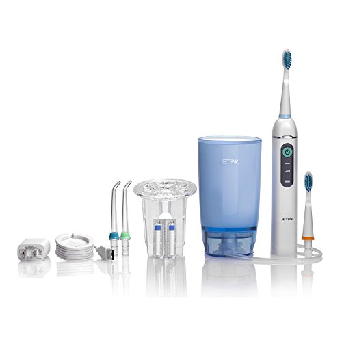 Jetpik - JP200 Home - Rechargeable Electric Water Flosser with Toothbrush Attachment for Braces with...