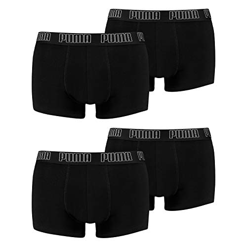 PUMA Herren Basic Trunk Boxershort 4er Pack Black (001) Größe:M