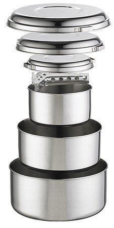 MSR (Mountain Safety Research) Kochgeschirr Alpine 4 Pot Set, Silver, One size, 21721