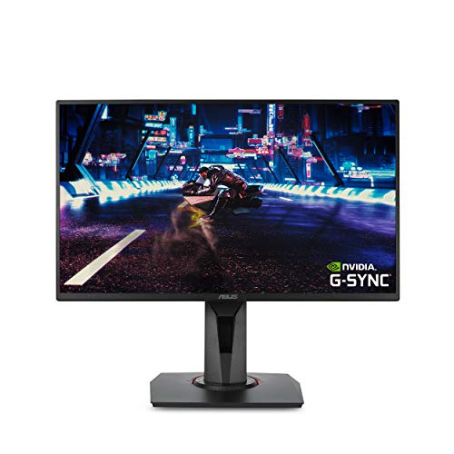 """ASUS 24.5"""" 1080P Gaming Monitor (VG258QR) - Full HD, 165Hz (Supports 144Hz), 0.5ms, Extreme Low Motion Blur, Speaker, Adaptive-Sync, G-SYNC Compatible, VESA Mountable, DisplayPort, HDMI, DVI-D , Black"""