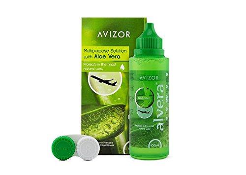 AVIZOR Alvera Kontaktlinsenflüssigkeit 1 × 100 ml im Etui. Lösung zur Reinigung und Desinfektion aller Arten von weichen Kontaktlinsen. Reiseformat.