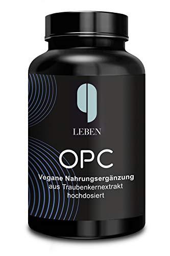 9 Leben OPC-Traubenkernextrakt | 180 Kapseln | hochdosiert nach HPLC | Laborgeprüftes OPC | 1200mg Extrakt mit 820mg OPC Tagesdosis | vegan | pur | bio | made in D.