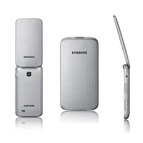Samsung C3520 Handy Mobiltelefon Klapphandy Klappbar metallic Silber - Handy offen für alle Netze