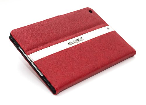 Sushi Cherry Chrome Logo Tasche für Apple iPad Air rot