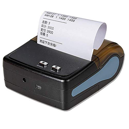 Amazing Deal RTYUIE Label Printer - Portable 80mm Bluetooth Receipt Thermal Printer QS-8001 for Park...