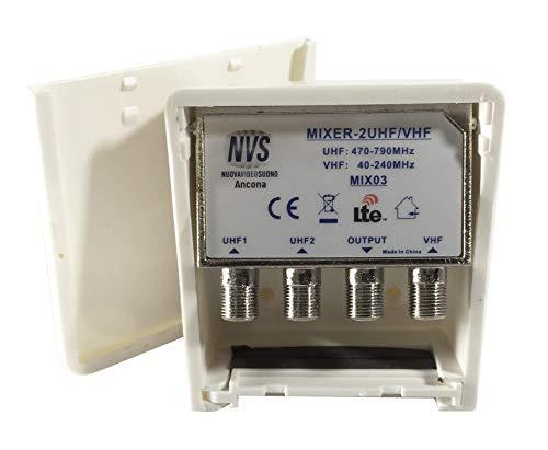 NVS Miscelatore da palo a 2 ingressi UHF VHF