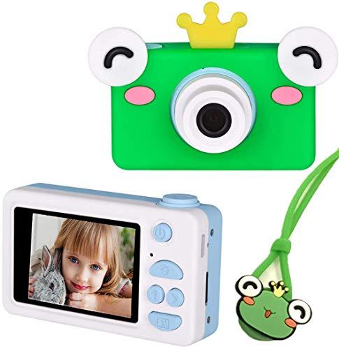 デジタルカメラ 子供用 トイカメラ 2400万画素 写真 動画 連写 タイマー撮影 2.0インチ 一眼レフ キッズカメラ 1080P録画 子供用カメラ 16GB SDカード付き 子供の日 誕生日 知育 子供プレゼント かえる ブル
