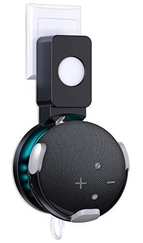 Cocoda Dot (4. Generation) Wandhalterung, Platzsparende Lösung für Smart Home Lautsprecher, Halterung Zubehör für Dot 4 mit Kabelanordnung Keine Chaotische Drähte, für Wohnzimmer, Bad & Schlafzimmer