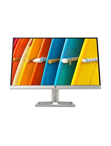"""HP – PC 22f Monitor 21.5"""" FHD 1920 x 1080 a 60 Hz, IPS, Antiriflesso, Borderless, Tempo risposta 5 ms, AMD FreeSync, Regolazione Inclinazione, Comandi su schermo, Low blue light, VGA, HDMI, Argento"""