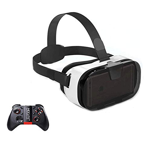 Best Prices! SCKL VR Headset Virtual Reality Headset with Controller for 4.0-6.3 Inch Smartphone - U...