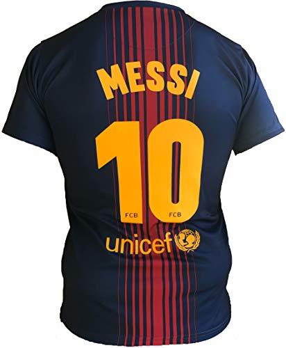 Barcellona Maglia Lionel Messi 10 Replica Autorizzata 2017-2018 Bambino-Ragazzo (Taglie-Anni 2 4 6 8 10 12 14) Adulto (S M L XL) (L)