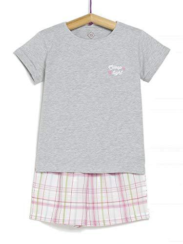 TEX 3616181468255 Juego de Pijama, Gris Plateado, 13-14 años para Niñas