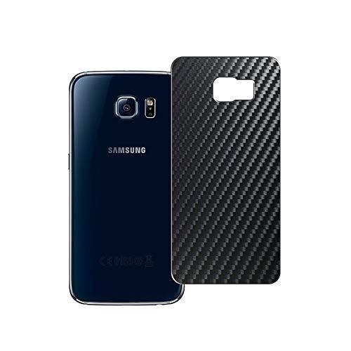 Vaxson 2 Unidades Protector de pantalla Posterior, compatible con Samsung Galaxy S6 SC-05G / G9200 G920 G9208 G9209, Película Protectora Espalda Skin Cover - Fibra de Carbono Negro