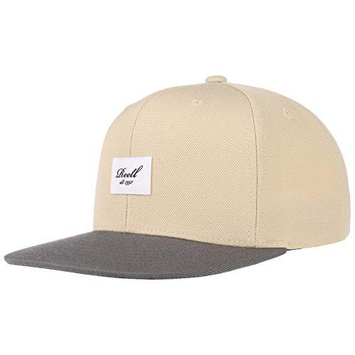 reell Pitchout 6P Snapback Cap Basecap Baseballcap Baumwollcap Kappe Baseballkappe Reell Cap Basecap (One Size - beige-grau)