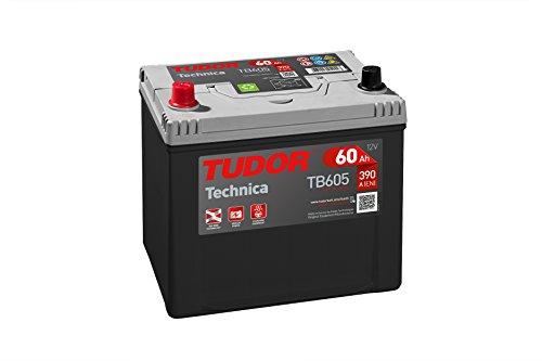 Batería para coche Tudor Exide Technica 60Ah, 12V. Dimensiones: 230 x 173 x 222. Borne izquierda.