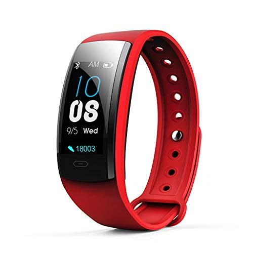 GaLon polshorloge, waterdicht, met tracker, fysiciek vorm, hartslag-armband, intelligent touchscreen, kleur 0,96 inch/bloeddruk/slaap-/modus M, Chinese red