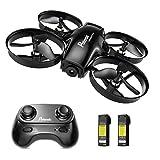 Potensic Mini Drohne A30 mit 2 Akkus, tragbar RC Quadrocopter 2.4G 6-Achsen-Fernbedienung, Höhenlage, Headless-Modus, Speed-Modus, One-Key Start / Landung Schwarz