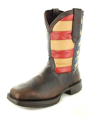 Durango Boots DB5554 D Pull-ON Union Flag Herren Westernreitstiefel Braun/Work Boots/Herrenstiefel/Westernstiefel, Groesse:42.5 (9.5 US)