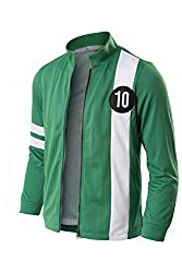 Kids Adult Tennyson Alien Swarm Ryan Kelly Green Synthetic Jacket T-shirt Fabric: Polyester Including: Only One Hoodie Occasion: Ben Tennyson Shirt Jacket Suitable for Cosplay ,Halloween, Stage Performances, Cosplay, Masquerade ball, Party and so on ...