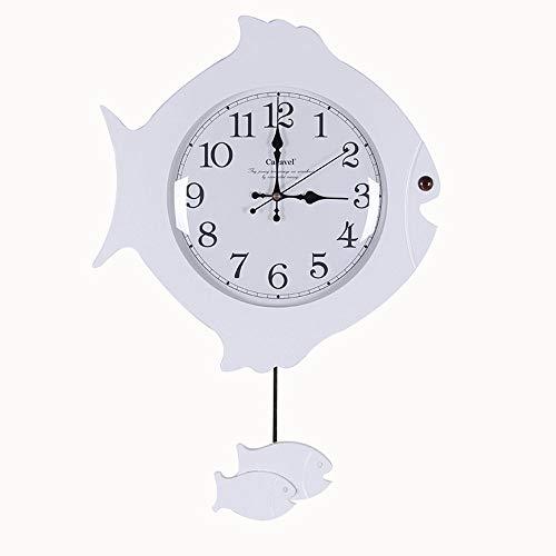 ZCZZ Reloj de péndulo Reloj de Pared silencioso con péndulo - Relojes Retro Antiguos con Movimiento de Cuarzo Que no Hacen tictac, decoración clásica para Dormitorio, Sala de Estar, Cocina (Color
