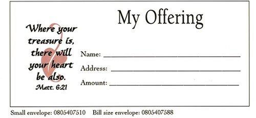 My Offering Bill Size Envelope 100pk
