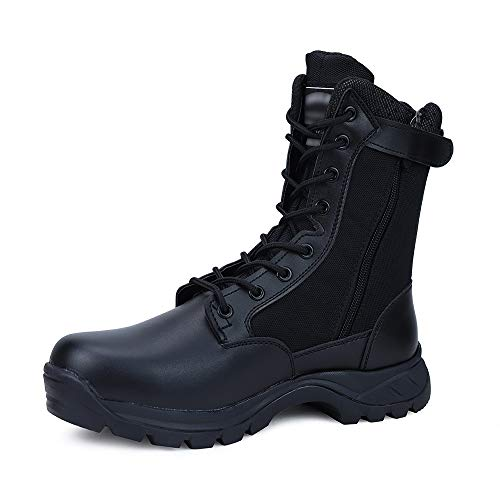 LUDEY Men's Breathable Military Boots Commando Outdoor Desert Tactical Boots Combat Boots Army...