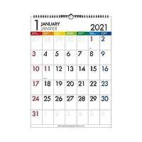 エトランジェディコスタリカ 2021年 カレンダー 壁掛け A3 カラーバー 2021年1月始まり 0102-CLV-A3-12