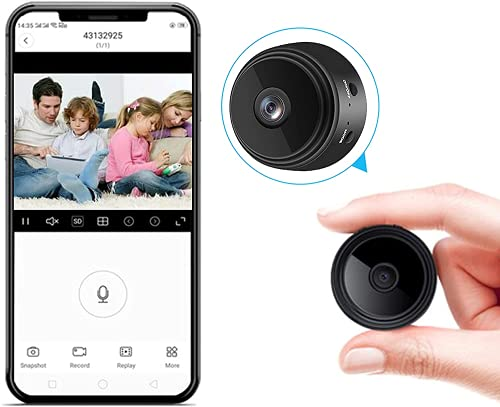 Spy Camera WiFi 1080P Home Security Camera Mini Hidden Camera with Audio Live Feed Motion Detection Night Vision Video Record Playback Phone App Control for Nanny Cam/Pet Camera/Car Camera
