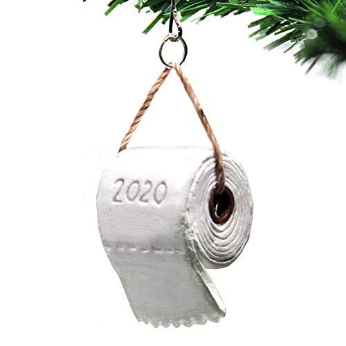 Kiallou 2020 Toilet Paper Crisis Pandemic Ornament, Christmas Tree Hanging Pendant, Xmas Souvenir Decoration Best Gift