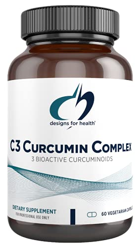 Designs for Health C3 Curcumin Complex - Highly Bioavailable Curcuminoid Turmeric Supplement  400mg with 3 Bioactive Curcuminoids - Non-GMO  Gluten-Free + Vegetarian (60 Capsules)
